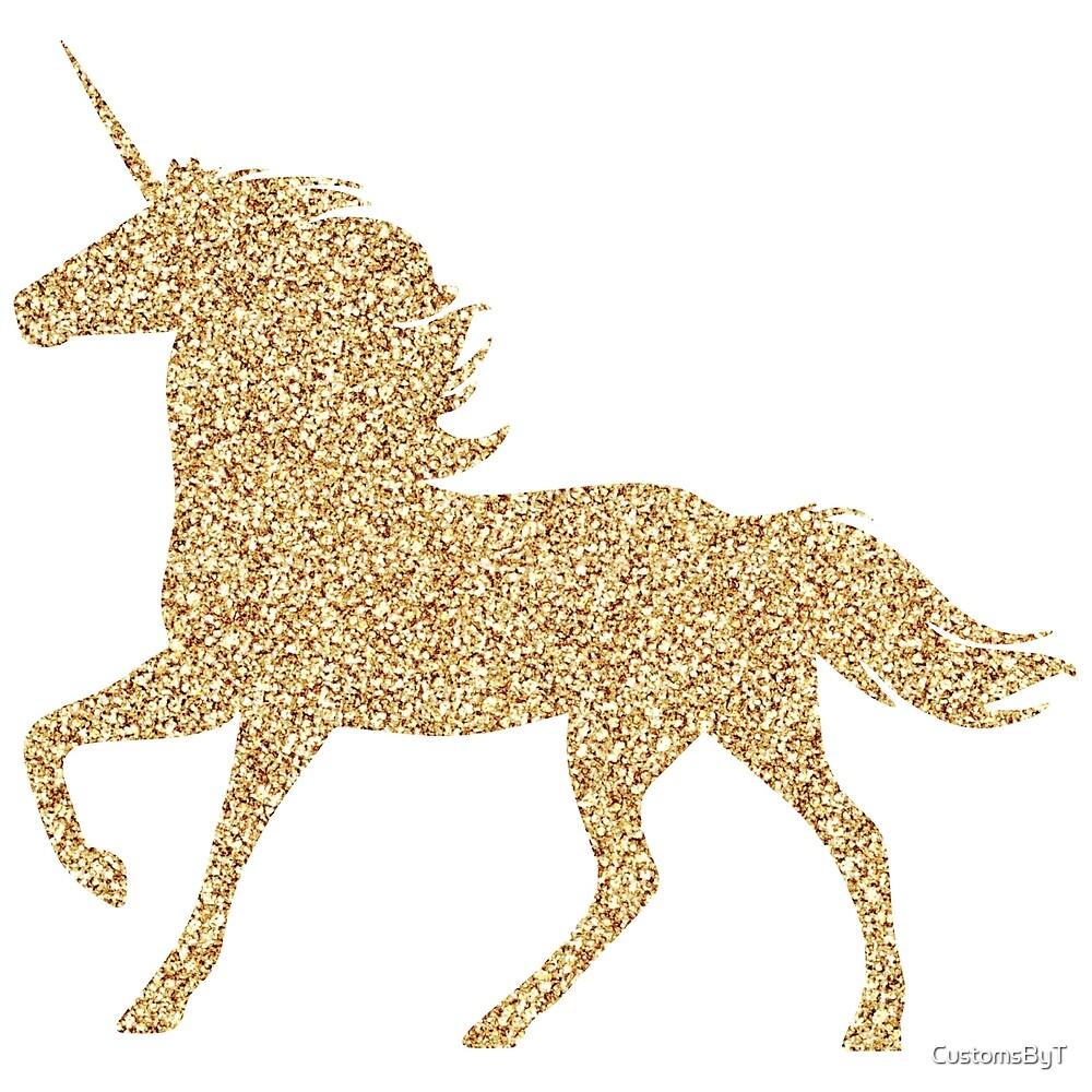 glitter gold unicorn by customsbyt redbubble