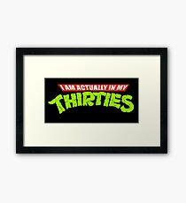 Teenage Mutant Ninja Thirties Framed Print