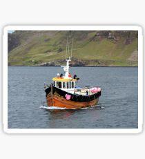 Fishing boat, Portree, Isle of Skye Sticker