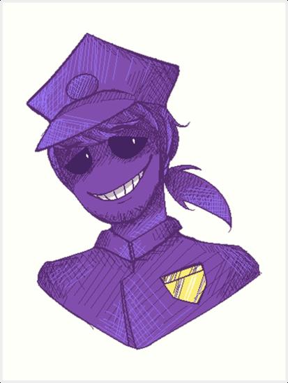 'Purple Guy - FNAF' Art Print by JokersToxin
