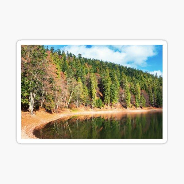 shore of the lake in autumn Sticker