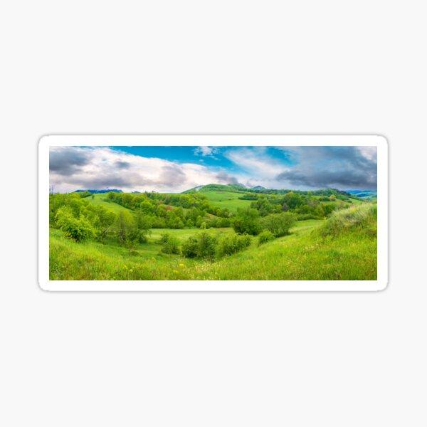 beautiful countryside panorama in springtime Sticker