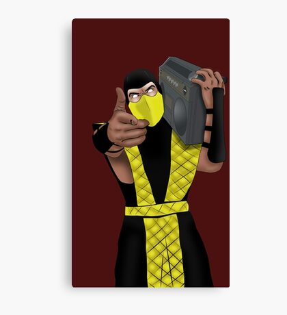 GET OVER HERE AND LISTEN TO THESE DOPE BEATS Canvas Print