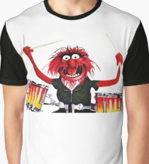 Animal Drummer Graphic T-Shirt