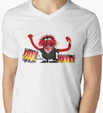 Animal Drummer Men's V-Neck T-Shirt