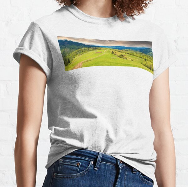 panorama of a beautiful countryside in mountains Classic T-Shirt