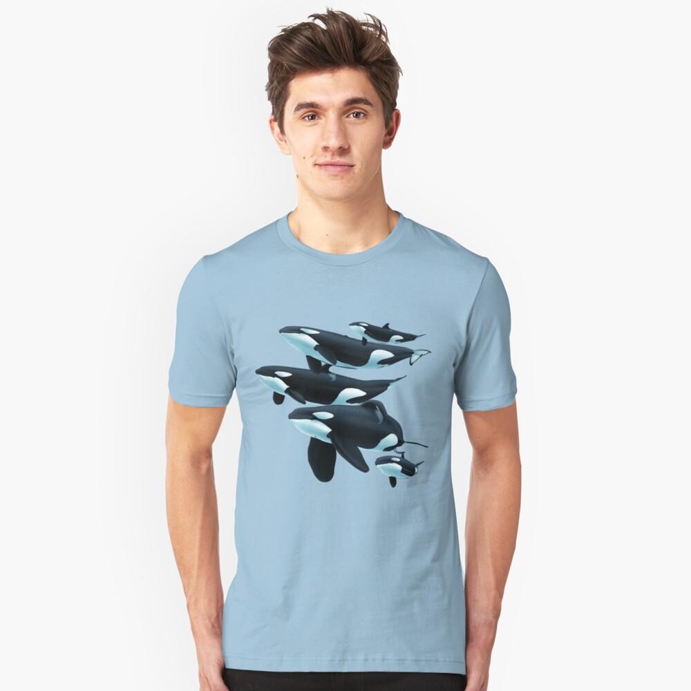 Pod of Orcas Unisex T-Shirt Front