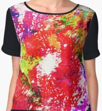 Expression Of Colour - Abstract In Rainbow Colours Women's Chiffon Top