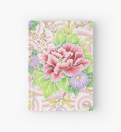 Pink Kimono Bouquet Hardcover Journal