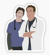 JD & Dr. Cox Sticker