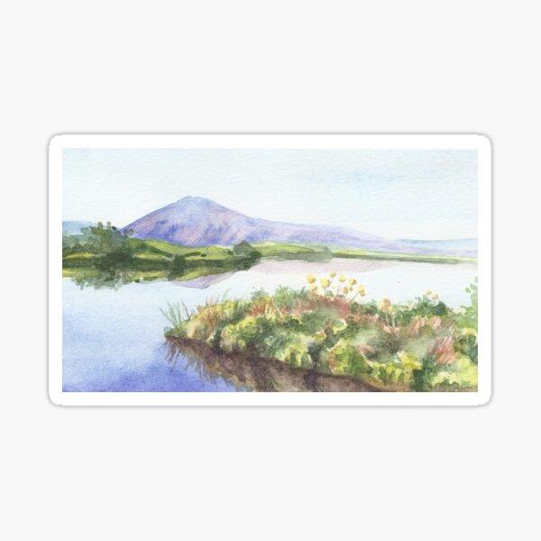 Summer view of Iceland Sticker