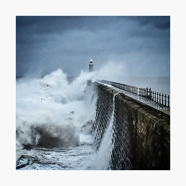 Turbulence, North Pier, Tynemouth Photographic Print
