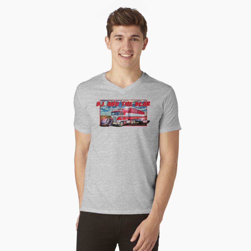 BJ und der Bär T-Shirt mit V-Ausschnitt