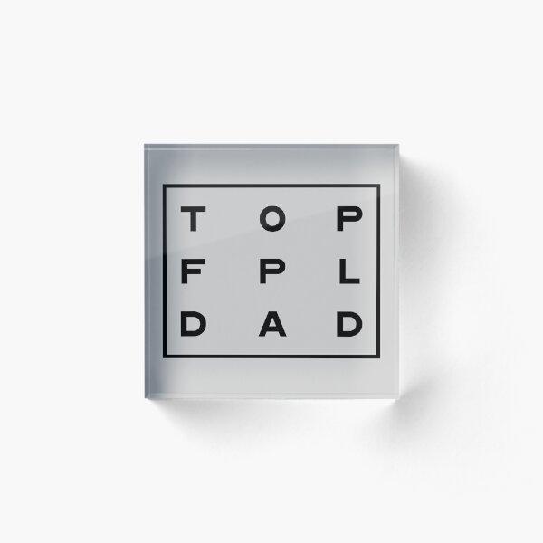 TOP FPL DAD Fantasy Premier League Black Acrylic Block