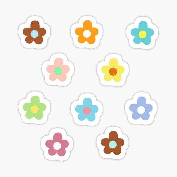 pastell bunte Blumen packen Sticker