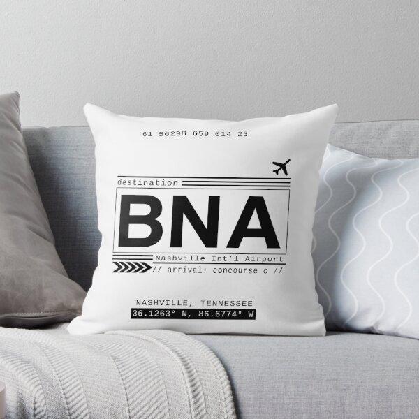 BNA Nashville International Airport Call Letters Throw Pillow