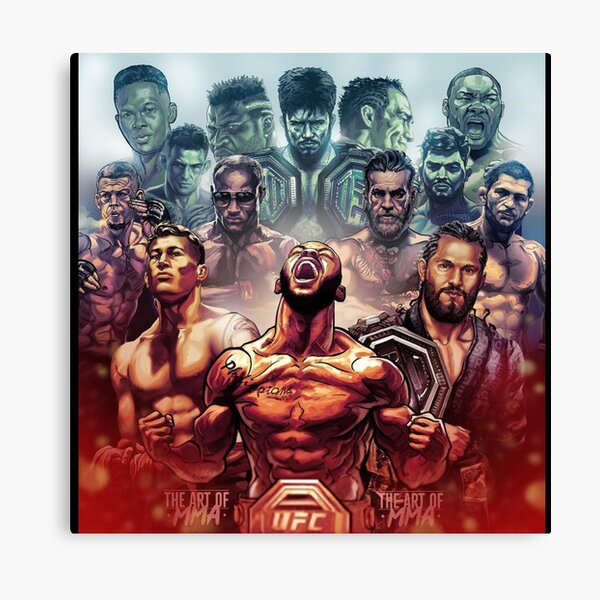 UFC fighters art poster  Canvas Print
