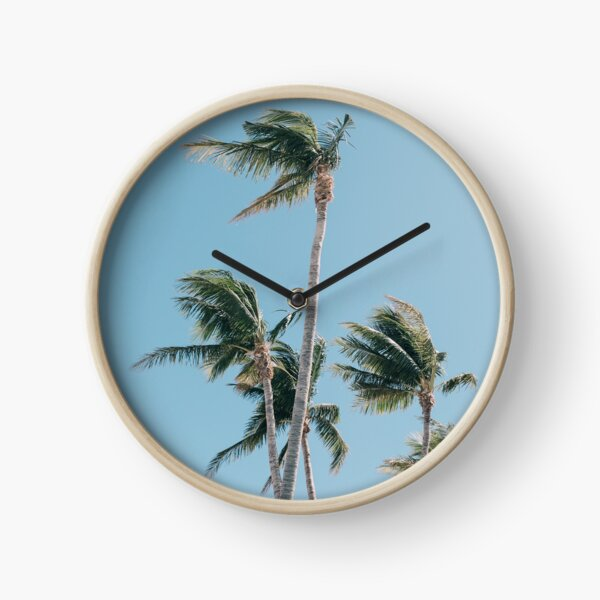 Palm Trees Clock