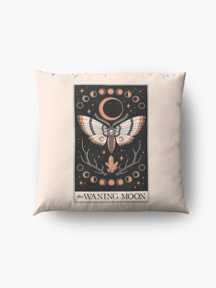Alternate view of The Waning Moon Floor Pillow