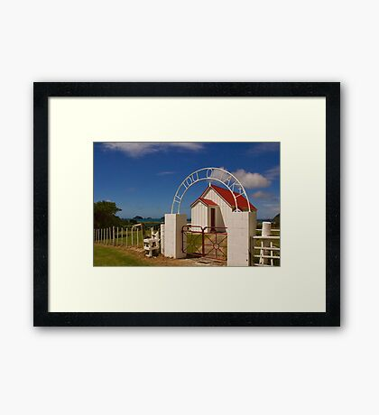 New Zealand Country Church Framed Print