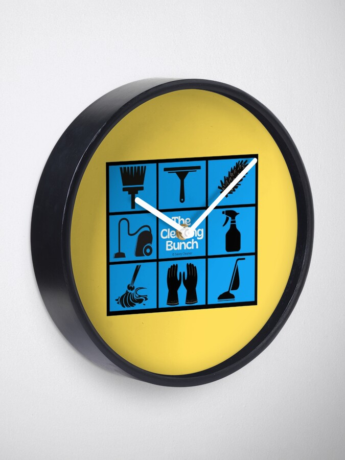 Alternate view of The Cleaning Bunch Cleaning Supplies Fun Lady Gifts Clock