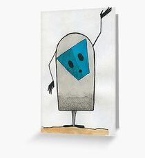 Blue Mask Greeting Card
