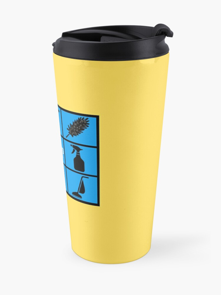 Alternate view of The Cleaning Bunch Cleaning Supplies Fun Lady Gifts Travel Mug