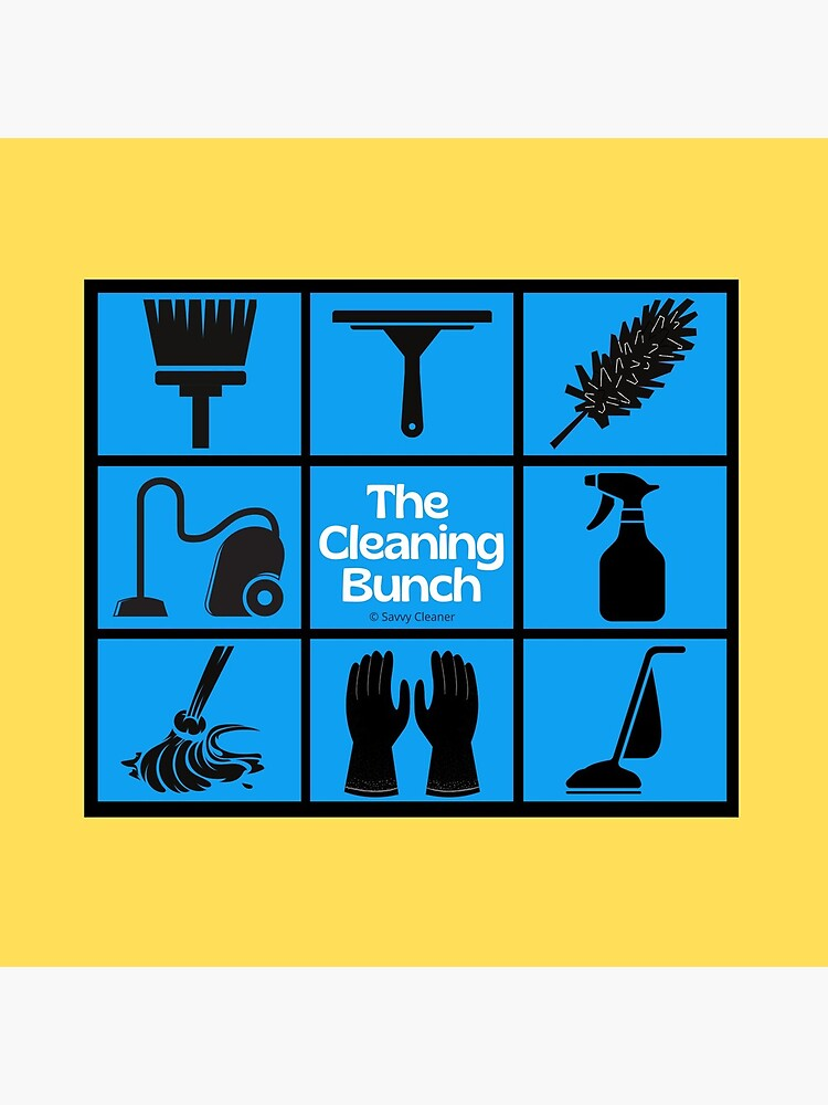 The Cleaning Bunch Cleaning Supplies Fun Lady Gifts by SavvyCleaner