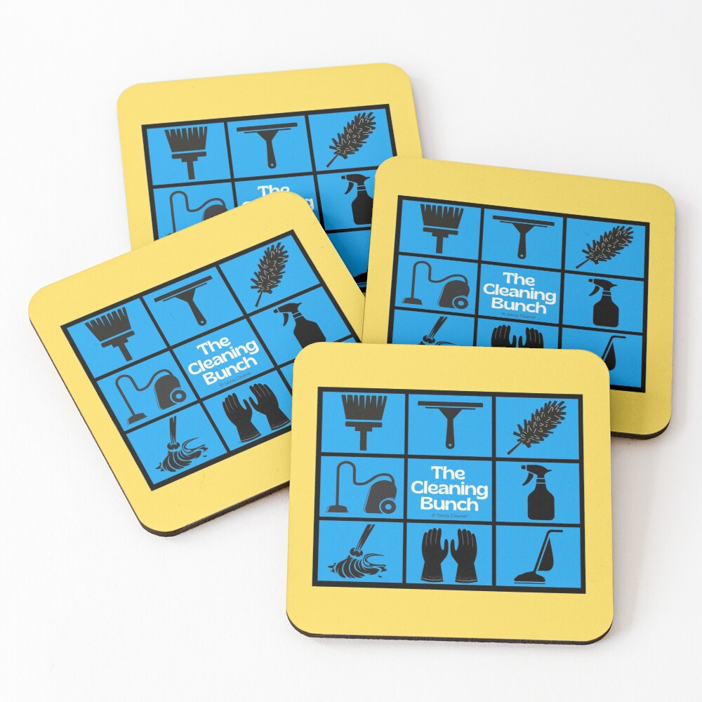The Cleaning Bunch Cleaning Supplies Fun Lady Gifts Coasters (Set of 4)