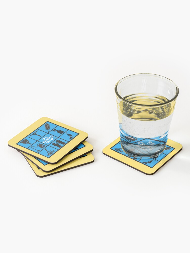 Alternate view of The Cleaning Bunch Cleaning Supplies Fun Lady Gifts Coasters (Set of 4)