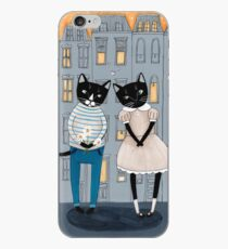 Cats First Date iPhone Case