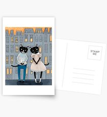 Cats First Date Postcards