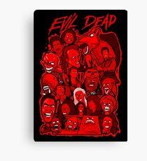 Evil Dead collage art Canvas Print
