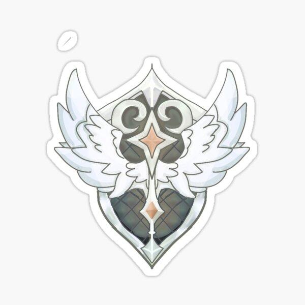 AFK Arena Lucius Shield Logo Design by Clauxtrophobic_art Sticker