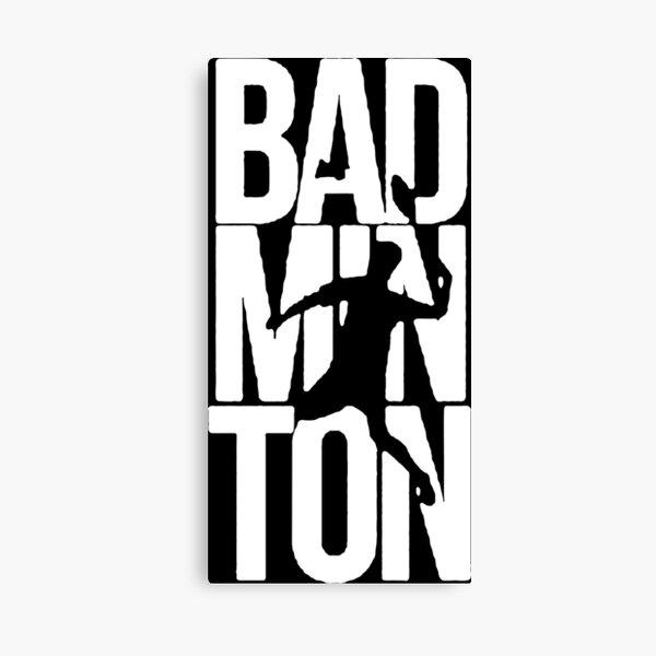 badminton lovers logo Canvas Print