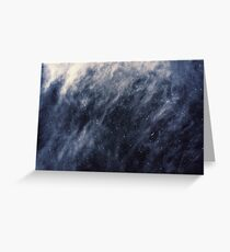 Blue Clouds, Blue Moon Greeting Card