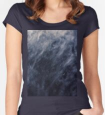 Blue Clouds, Blue Moon Women's Fitted Scoop T-Shirt