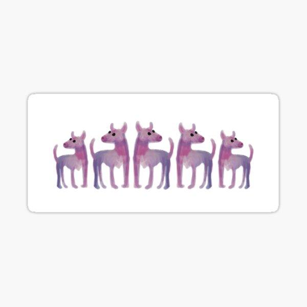 Pointy Doggies Sticker