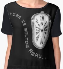 Salvador Dali Inspired Melting Clock. Time is melting away. Chiffon Top