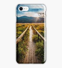 Boardwalk, October in Washington, Pacific Northwest iPhone Case/Skin