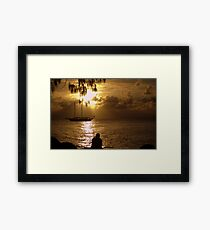 Sail Boats and Fishing Lines Framed Print