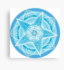 Mandala Cool Collection Canvas Print