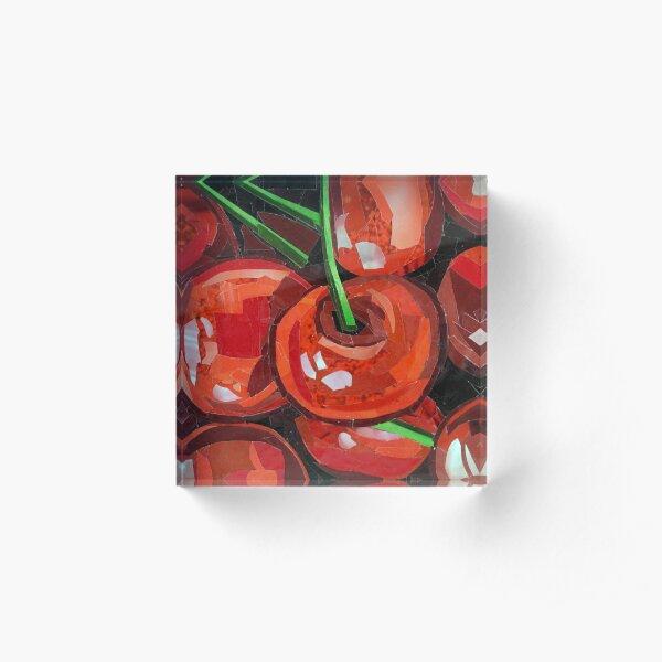 Cherries Acrylic Block