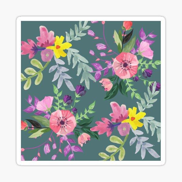 Floral life sea green Sticker