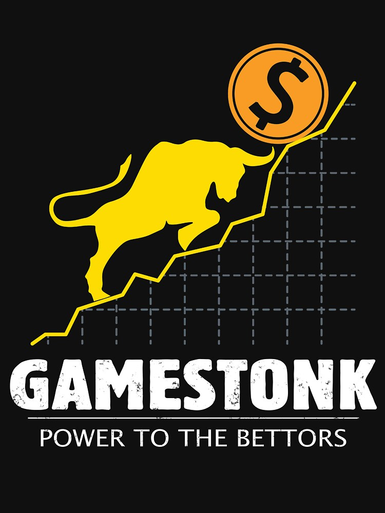 GameStonk Power to the Bettors - Wall Street Investor and Trader Stock Market Bets - Funny Wall Street Memes Vintage Design by WG-Factory