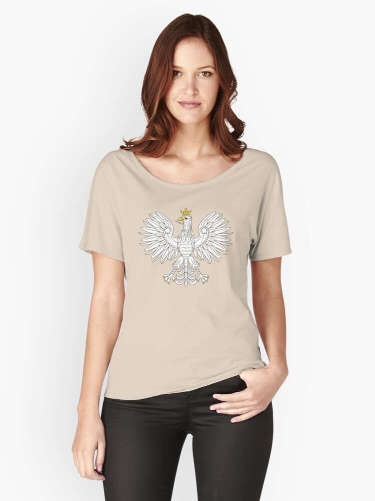 Polish Eagle Women's Relaxed Fit T-Shirt Front