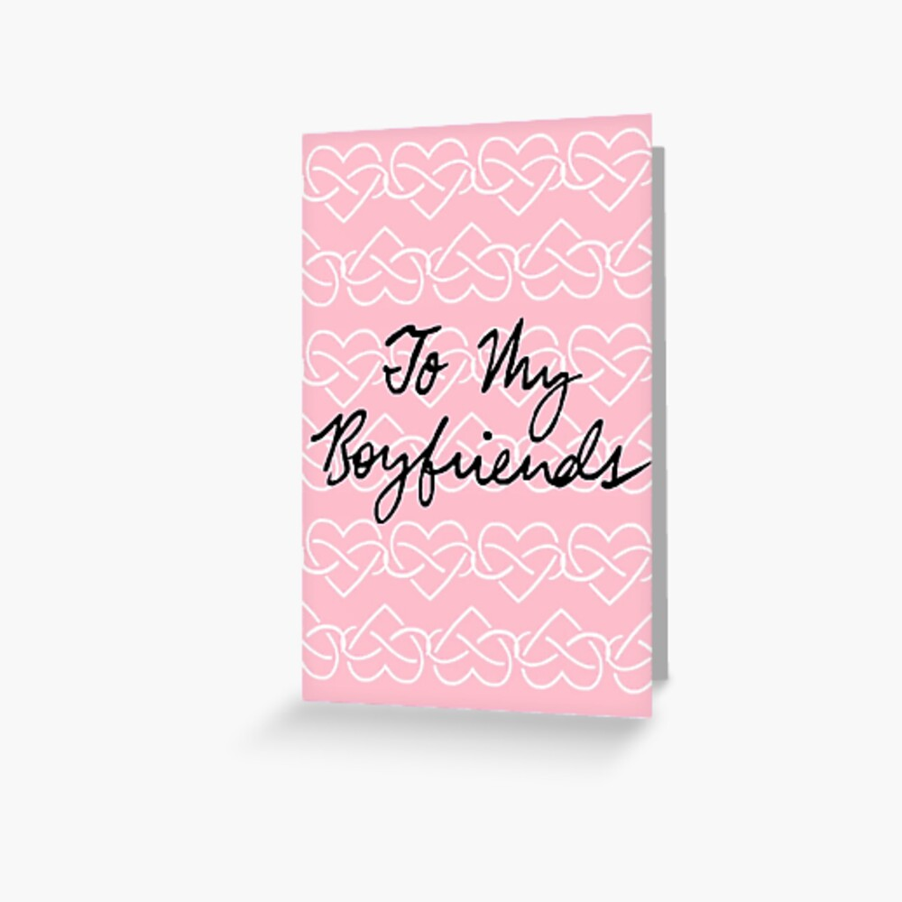 To My Boyfriends (Infinity Hearts - Pink) Greeting Card