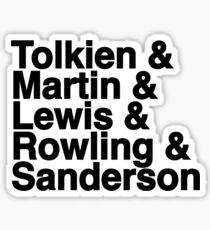 Best Fantasy Authors Sticker