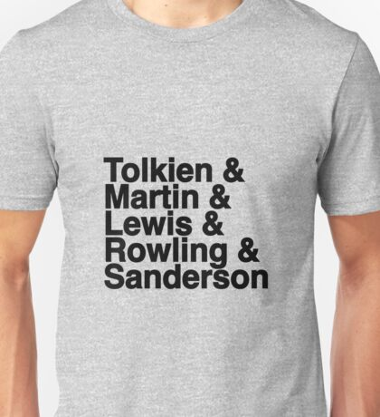 Best Fantasy Authors Unisex T-Shirt