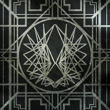 Art Deco Wings-Silver by maddiesh